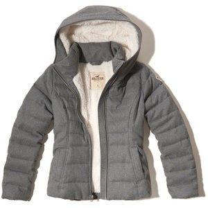 HOLLISTER Sherpa Lined Puffer Jacket